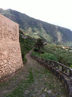 Ancient path to an old Spanish church located at Puerto De La Cruz, Tenerife Canary Islands