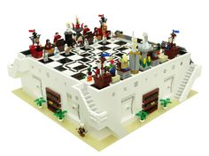 Lego chess set of Elantris by Brandon Sanderson