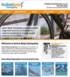 Active Body Website #osteopathy #stalbans