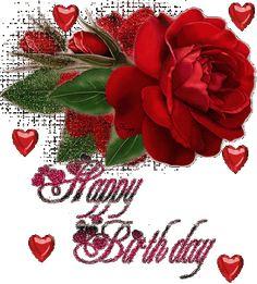 Beatiful Rose with Hearts: Happy Birthday - ツ Happy Birthday Images ツ Happy Birthday Hearts, Happy Birthday Flower, Happy Birthday Images, Happy Birthday Greetings, Glitter Birthday, Birthday Quotes, Birthday Cards, Hug Images, Beautiful Red Roses
