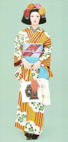 Kimono-hime issue 9. Fashion shoot page 8. Via Satomi Grim of Flickr