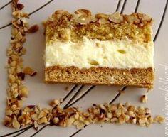 Ciasto orzechowo - budyniowe Polish Desserts, Polish Recipes, No Bake Desserts, Sweet Recipes, Cake Recipes, Dessert Recipes, Food Cakes, Cupcake Cakes, Cupcakes