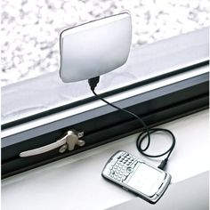 This window solar charger is both a practical and eco-friendly device to use while traveling. Simply put it in a window at the office or airport and plug in your cellphone.