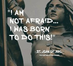 Joan of Arc: Non ho paura . Saint Joan Of Arc, St Joan, Catholic Saints, Patron Saints, Roman Catholic, Joan Of Arc Quotes, Bride Of Christ, Saint Quotes, Catholic Quotes