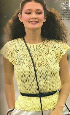 pretty cotton crochet tee free crochet pattern