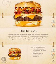40 Of The Most Delicious-Looking Cheese Burger Combinations Ever – UltraLinx Burger Menu, Gourmet Burgers, Good Burger, Burger Recipes, Burger Dogs, Beef Burgers, Good Food, Yummy Food, Brunch