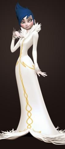 This is ELSA as a villain before disney changed the plot. I would love the movie if she was a villain I like this better