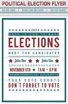 Voter Election Flyer Template Bundle-Vol 001 | Flyer template ...