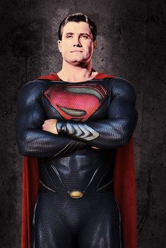 George Reeves in the new Superman costume.