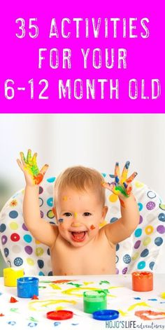 Sometimes it's hard to know how to play with your baby but not anymore! Here are 35 things to do with your month old! Great ideas for mom dad grandparents daycare providers and more! Baby Sensory Play, Baby Play, Baby Sensory Bags, Montessori Baby, Montessori Bedroom, Infant Activities, Activities For Kids, 7 Month Old Baby Activities, Infant Games