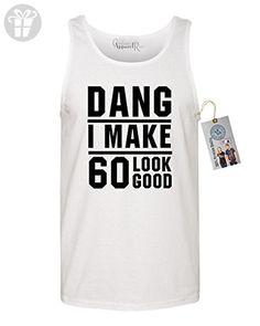 60th Birthday T Shirt Dang I Make 60 Look Good Mens Tank Top White Small - Birthday shirts (*Amazon Partner-Link)