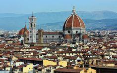 Catedral Duomo de Florencia desde la plaza de Miguel Angel