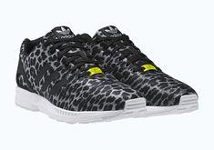 2014 Adidas Original Zx Flux Cheetah Grey Black Unisex Trainers All Sizes 7b1d86b2bdbc3