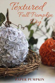 Teal Pumpkin, Diy Pumpkin, Pumpkin Crafts, Paper Pumpkin, Fall Crafts, Diy And Crafts, Crafts For Kids, Recycle Paper, Diy Paper