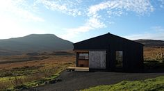 The Black Shed. Contemporary, architecture award winning self-catering. Skinidin, Isle of Skye. www.blackshed.co.uk