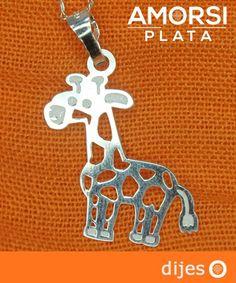Dije de Jirafa en Plata Ley .925 - AmorsiPlata
