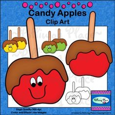 Candy Apples Clip Art - Free for a limited time