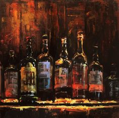 Rum abd Coke oil on panel by Lindsey Kustusch