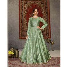 Buy Gowns - Discover the wide range of designer gowns online Party Wear Gowns Online, Party Gowns, Dresses Online, Churidar, Anarkali, Salwar Kameez, Ethnic Gown, Indian Ethnic Wear, Taffeta Dress