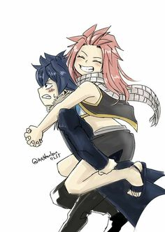 Nashi and Storm. | Nalu daughter and Gruvia son | FT kids | Fairy Tail next generation