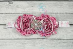 Adjustable Pink Ribbon Breast Cancer Support & Awareness Headband by LilybugHugsBoutique on Etsy, $10.00 Anyone of any age can wear this lovely Breast Cancer Awareness/Support headband! Gorgeous metallic shiny pink shabby flowers adorned with a large 28mm rhinestone button center! My adjustable headbands can be adjusted to fit newborn to adult! Gotta love multi-purpose :) I can also make these with a special saying in the middle! Like; Fight Like A Girl; I support my Nana! etc