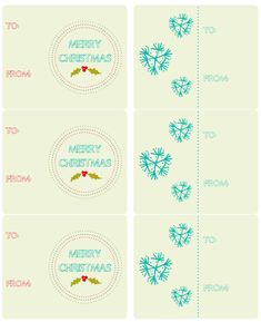 Hand drawn holiday labels Free Printables..
