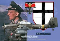 Oberst Hans-Ulrich Rudel Air Fighter, Fighter Pilot, Fighter Jets, Luftwaffe, Ww2 Aircraft, Military Aircraft, History Jokes, Flying Ace, Ww2 Planes