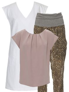 burda style, Schnittmuster, Topseller im Februar 2015 -  Kombi-Set aus einer luftigen Sommer-Hose, einem schlichten Kleid in A-Linie mit überschnittenen Schultern und Nahttaschen sowie einem Shirt mit angeschnittenen Miniärmel und Fältchen am Halsausschnitt