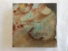 Calligraphy done by Cecile Walters.  Acrylic on wood.  See more at www.letterdance.co.za