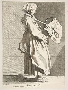 A Savoyarde, Anne Claude de Tubieres, after Edme Bouchardon, etching with some engraving, 1742.
