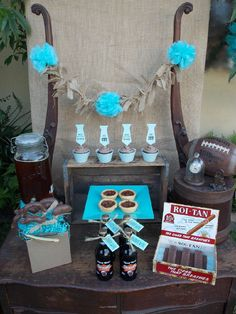 Another pretty shot of the Father's Day dessert table
