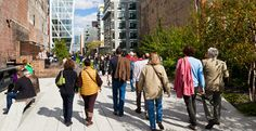 Where to Retire without a car....People walking on the High Line City park, New York © Gavin Hellier/Robert Harding World Imagery/Corbis