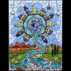 Artist: Aly Winningham Category: 2D Mixed Media Mosaics of stones, metal, found objects and hand shaped sheet glass often fused into tile shapes. www.terrafirmastudios.com Cottonwood Art Festival October 7-8, 2017 #CottonwoodArtFest www.cottonwoodartfestival.com #alywinningham #mixedmedia #collage #collageart #art #artist #mixedmediaart #tile #ceramicart #cottonwoodartfestival #artshow #artfestival #richardsontx