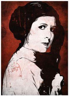 Pop Art print of Princess Leia