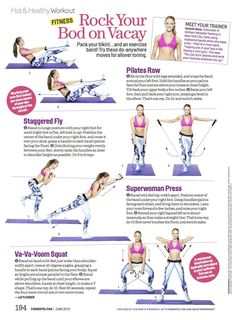 Pick up the June issue of Cosmo for my quick and easy vacation workout with resistance bands you can do anywhere! Video tutorial at Cosmopolitan.com/vacationworkout