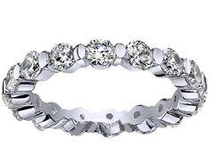 Floating Diamond Eternity Ring