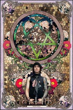 HIM - Art Nouveau Poster 2006 ULTRA RARE ! Ville Valo