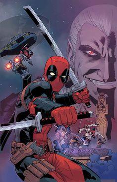 #Deadpool #Fan #Art. (DEADPOOL: DRACULA'S GAUNTLET #1 (of 7) Cover) By: REILLY BROWN. [THANK U 4 PINNING!!]