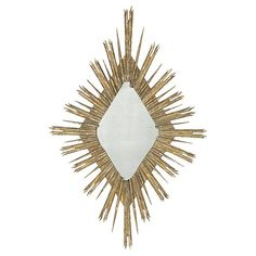 """The Diamond Gold Skvode Mirror is from Aidan Gray, a line that represents a love for interiors, design and authentic products that exude """"European Grandeur."""" The founding partners' desire for products made by hand and with authentic materials such as solid wood, rustic metals, antique mirror, old painted finishes and silk appointments drives product development. Aidan Gray has become known for exceptional quality and detail oriented products."""