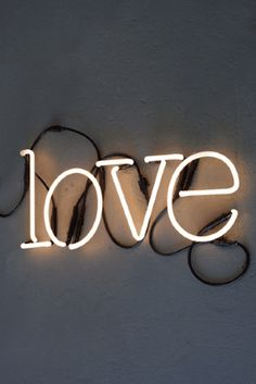 LOVE Neon Light by Rocket St George