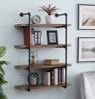Homissue 4 Shelf Rustic Pipe Shelving Unit Metal Decorative Accent Wall Book Shelf For Home Or Office Organizer Retro Brown Home Design Diy, Modern Bedroom Design, Modern Design, Design Ideas, Wall Shelving Units, Wall Bookshelves, Nursery Bookshelf, Wall Units, Book Shelves