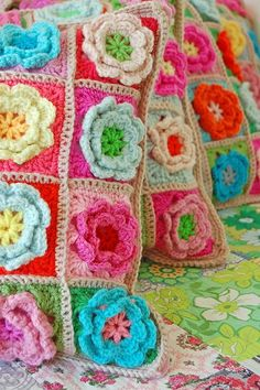 Crochet pillows - Click image to find more Design Pinterest pins