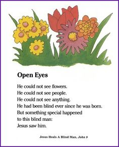 Jesus Heals a Blind Man - Open Eyes Poem