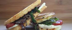 Grilled Cheese Sandwich with Oaxaca Cheese, Poblano Peppers, and Spanish Chorizo