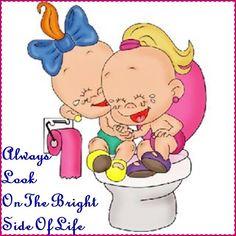 Always look on the bright side of life Cute Baby Cartoon, Girl Cartoon, Cartoon Clip, Funny Babies, Cute Babies, Baby Kids, Cartoon People, Cartoon Images, Disney Cartoons