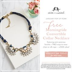 Wave goodbye to basic: our Morningtide Convertible Collar Necklace is a stunner! FREE for hosts only!