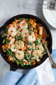This Sweet Potato Green Beans Shrimp Skillet is gluten-free, super filling, which uses only one pot and it is done in less than 30mins. Enjoy!