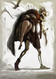 Dark Fantasy Art, Fantasy Artwork, Fantasy Art Women, Dark Art, Fantasy Creatures, Mythical Creatures, Eslava, Arte Tribal, Horror Art