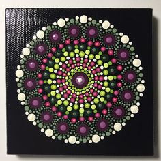 Hand Painted Mandala on Canvas, Mandala Meditation, Dot Art, Calming, Healing, #400 by MafaStones on Etsy