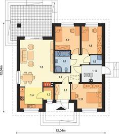 DOM.PL™ - Projekt domu ARP TRYTON B CE - DOM AP2-11 - gotowy koszt budowy Floor Plans, House, Home, Haus, Floor Plan Drawing, Houses, House Floor Plans